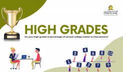 Do your high grades and percentage of school/ college matter to interviewers?